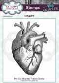 CE Rubber Stamp by Andy Skinner - Heart - CEASRS023